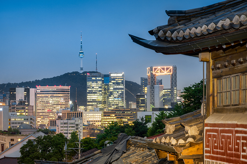 View on Bucheon City, Sudogwon, the Seoul Capital Area.